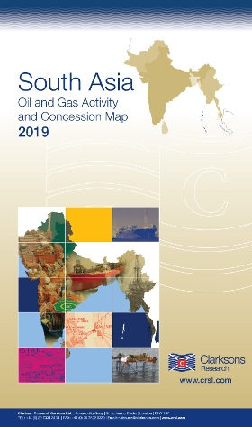 South Asia Oil & Gas Map on