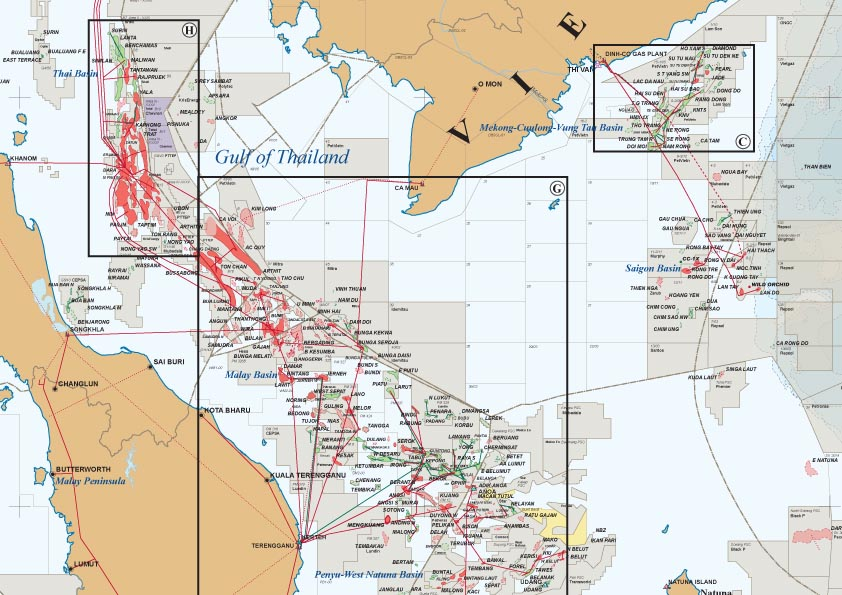 South East Asia Oil Gas Map – East Asia and Southeast Asia Map
