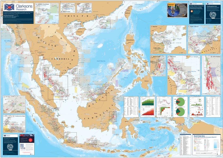 South East Asia Oil & Gas Map